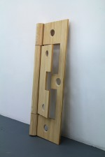 Field (Wooden Cypher, hinge) 2015 by Chris Bond