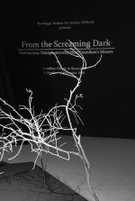 From the Screaming Dark (detail signage and branches) 2009 by Chris Bond
